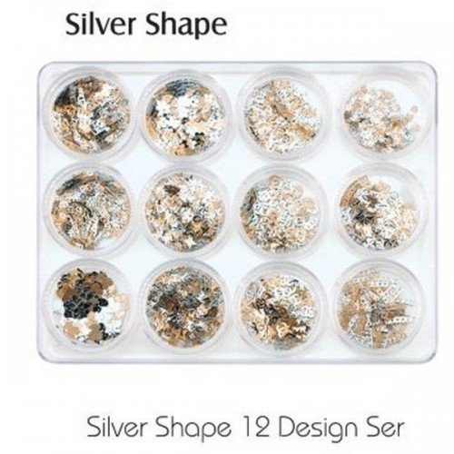 Incrustaciones Metalicas 12 BOTES (plata)