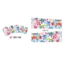 FLOWERS STICKERS AL AGUA - 106