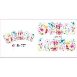 FLOWERS STICKERS AL AGUA - 797