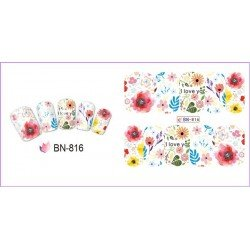 FLOWERS STICKERS AL AGUA - 816