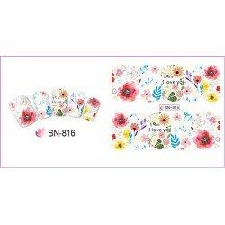 FLOWERS STICKERS AL AGUA - 816