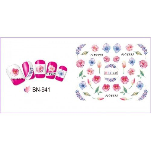 FLOWERS STICKERS AL AGUA - 941