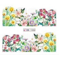 FLOWERS STICKERS AL AGUA - 1086