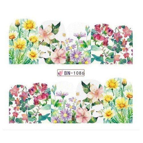 FLOWERS STICKERS AL AGUA - 1086