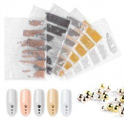 CAVIAR METAL NAIL ART MIX - GRAFITO