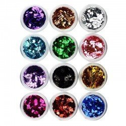 12 tarros decoracion uñas (Rombos)