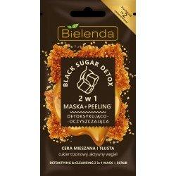BLACK SUGAR DETOX 2in1 Mascarilla desintoxicante y limpiadora + peeling