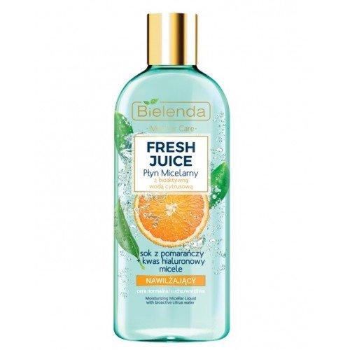 Agua micelar con agua cítrica bioactiva jugo de naranja 500 ml