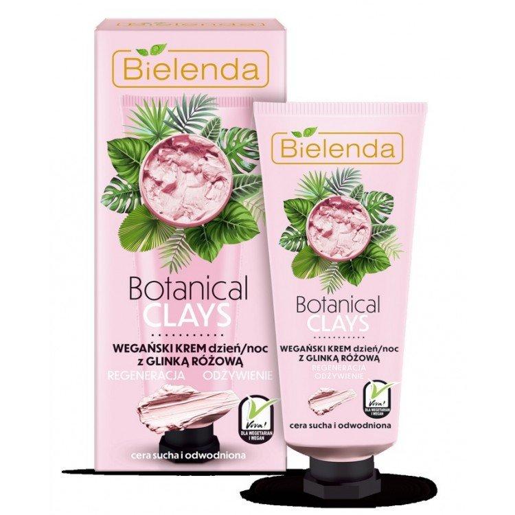 Crema Facial vegana con arcilla rosa día / noche 50ml