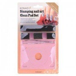 Soporte para placas con esponja limpiadora de KONAD